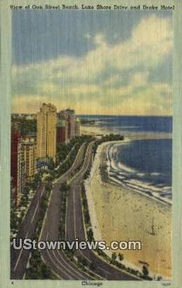 Lake Shore Drive, Drake Hotel - Chicago, Illinois IL Postcard