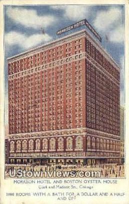 Morrison Hotel & Boston Oyster House - Chicago, Illinois IL Postcard