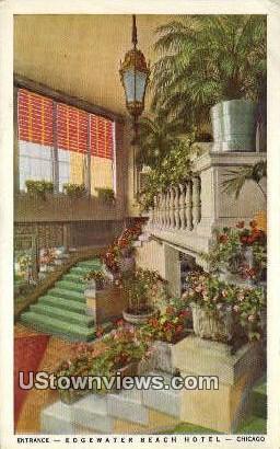 Edgewater Beach Hotel - Chicago, Illinois IL Postcard