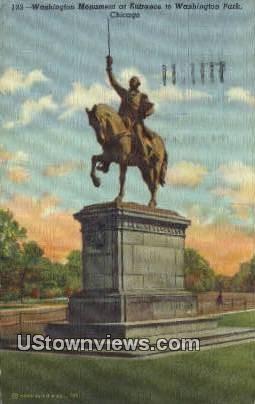 Washington Monument - Chicago, Illinois IL Postcard