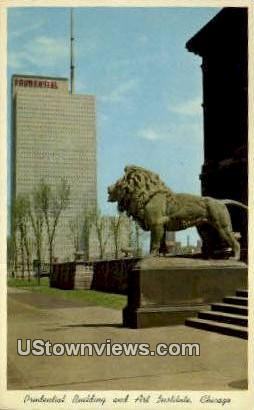 Prudential Bldg & Art Institute - Chicago, Illinois IL Postcard