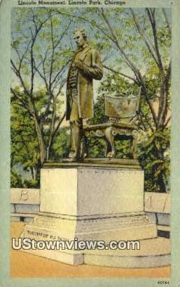 Lincoln Monument, Lincoln Park - Chicago, Illinois IL Postcard