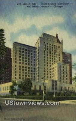 Abbott Hall, Northwestern University - Chicago, Illinois IL Postcard