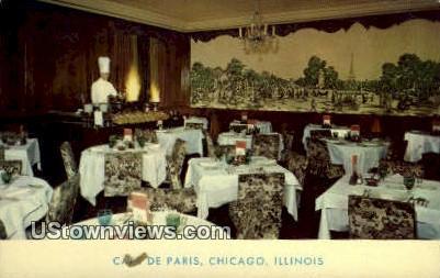 Cafª De Paris - Chicago, Illinois IL Postcard
