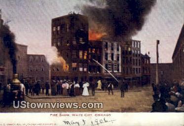 Fire Show, White City - Chicago, Illinois IL Postcard