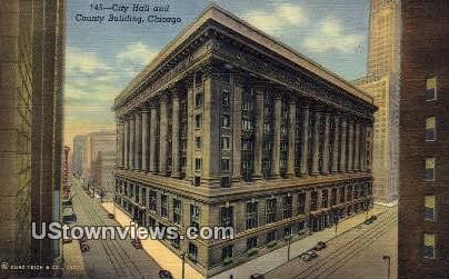City Hall & County Bldg - Chicago, Illinois IL Postcard