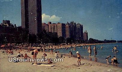 Oak Street Beach - Chicago, Illinois IL Postcard