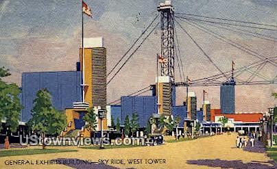 General Exhibits Bldg, West Tower - Chicago, Illinois IL Postcard