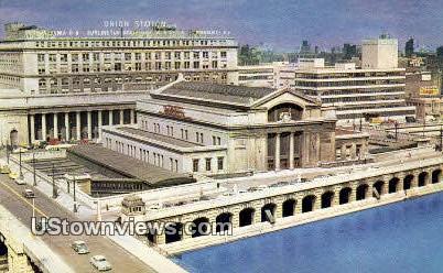 Union Station - Chicago, Illinois IL Postcard