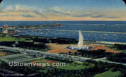 Grant Park - Chicago, Illinois IL Postcard