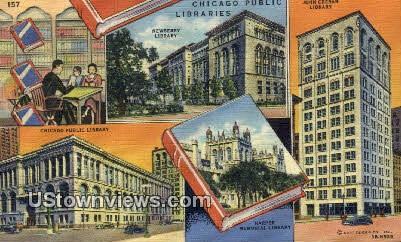 Chicago Public Libraries - Illinois IL Postcard