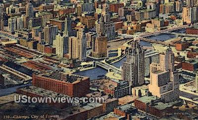 City of Towers - Chicago, Illinois IL Postcard