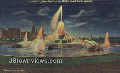 Buckingham Fountain, Grant Park - Chicago, Illinois IL Postcard