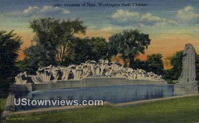 Fountain of Time, Washington Park - Chicago, Illinois IL Postcard