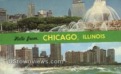 Buckingham Memorial Fountain - Chicago, Illinois IL Postcard