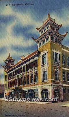 Chinatown - Chicago, Illinois IL Postcard