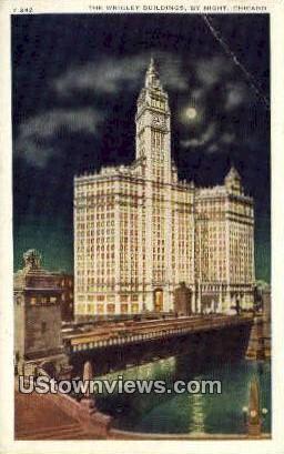 Wrigley Bldg - Chicago, Illinois IL Postcard