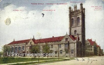 Tower Group, University of Chicago - Illinois IL Postcard