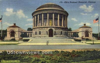 Elk's National Memorial - Chicago, Illinois IL Postcard