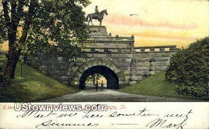 Gen Grant Monument, Lincoln Park - Chicago, Illinois IL Postcard