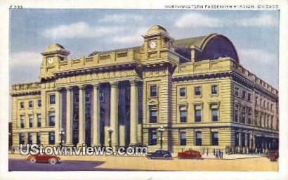 Northwestern Passenger Station - Chicago, Illinois IL Postcard