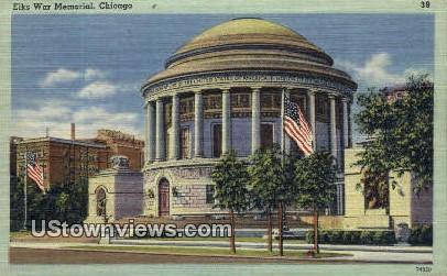 Elks War Memorial - Chicago, Illinois IL Postcard