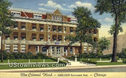 Colonial Hotel - Chicago, Illinois IL Postcard