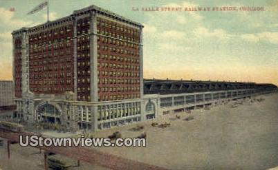La Salle Street RR Station - Chicago, Illinois IL Postcard