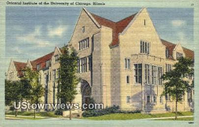 Oriental Institute of U of Chicago - Illinois IL Postcard