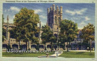 Hutchinson Court, University of Chicago - Illinois IL Postcard