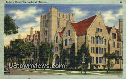 Judson Court, University of Chicago - Illinois IL Postcard
