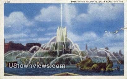 Buckingham Fountain, Grant Park - Chicago, Illinois IL Postcard