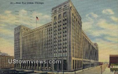 New Post Office - Chicago, Illinois IL Postcard