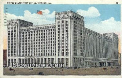 US Post Office - Chicago, Illinois IL Postcard
