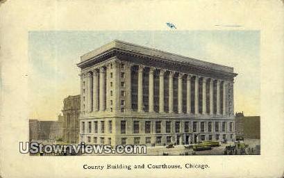 County Bldg & Courthouse - Chicago, Illinois IL Postcard