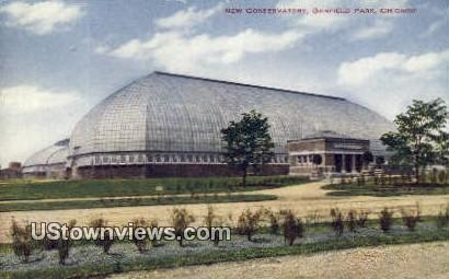New Conservatory, Garfield Park - Chicago, Illinois IL Postcard
