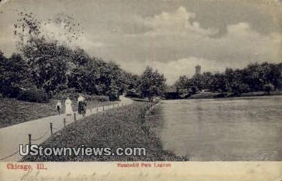 Humboldt Park Lagoon - Chicago, Illinois IL Postcard