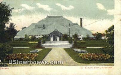 Lincoln Park Greenhouse - Chicago, Illinois IL Postcard