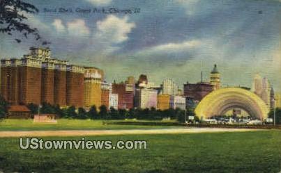 Band Shell, Grant Park - Chicago, Illinois IL Postcard