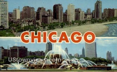 Buckingham Fountain - Chicago, Illinois IL Postcard