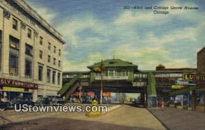 63rd & Cottage Grove Ave - Chicago, Illinois IL Postcard