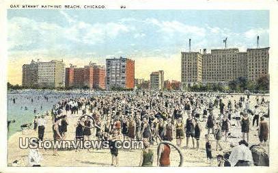 Oak Street Bathing Beach - Chicago, Illinois IL Postcard
