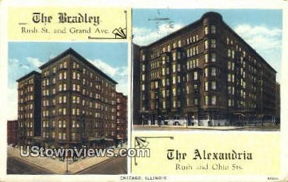 The Bradley, Alexandria - Chicago, Illinois IL Postcard