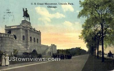 US Grant Monument - Chicago, Illinois IL Postcard