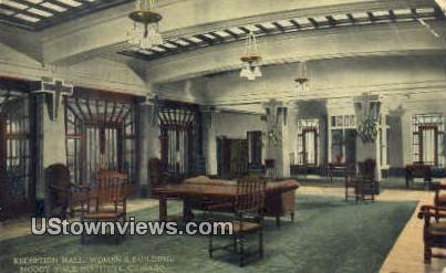 Reception Hall, Women's Bldg - Chicago, Illinois IL Postcard