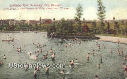 McKinley Park Swimming Pool - Chicago, Illinois IL Postcard