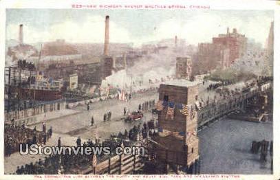 new Michigan Ave Bascule Bridge - Chicago, Illinois IL Postcard