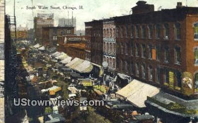 South Water St - Chicago, Illinois IL Postcard