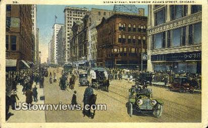 State Street - Chicago, Illinois IL Postcard