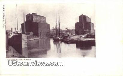Chicago River - Illinois IL Postcard